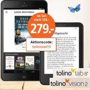 Tolino Vision 2 plus Tolino Tab 8 Bundle für 279 Euro statt 328 Euro bei Weltbild