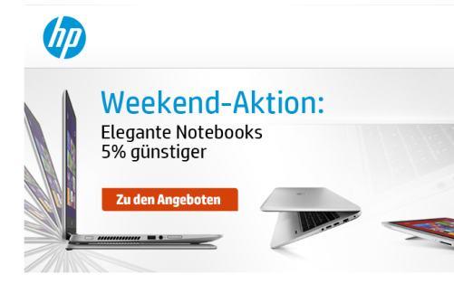 HP Weekend: 5% Rabatt auf elegante Notebooks