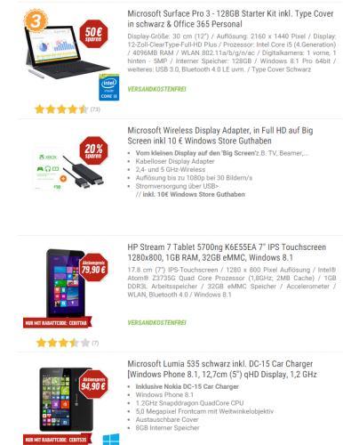 CEBIT Messeangebote (Tablet/PC/Notebook...) bei Notebooksbilliger.de und mehr