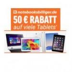 50€ Rabatt beim Kauf ausgewählter Tablets