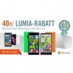 40 Euro Microsoft LUMIA-RABATT - Microsoft wird 40!  Gutschein Aktion für Lumia Smartphones
