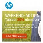 HP Weekend: Tablets 20% günstiger