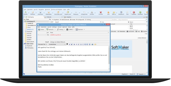 Thunderbird Version 38 in SoftMaker Office 2016