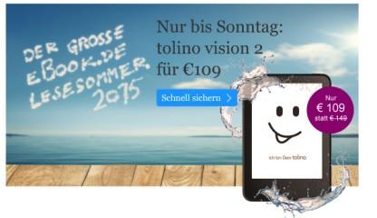 Tolino Vision 2 für 109 Euro
