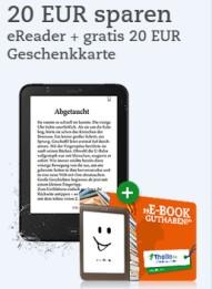 Tolino Vision 2 inklusive 20 Euro eBook Geschenkkarte