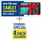 Sonderaktion: Galaxy Tab 4 mit Samsung Galaxy S6 kostenlos und 4-fach Highspeed Volumen