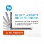 HP Notebooks mit bis zu 70 Euro Rabatt am Wochenende