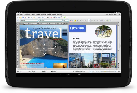 SoftMaker Office HD für Android Tablet PCs