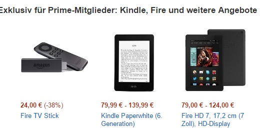 Prime Day Angebote bei Amazon