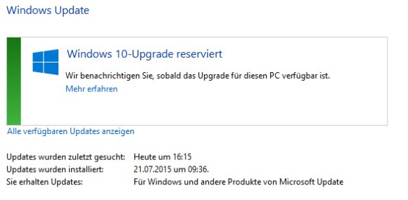 Windows 10 Reservierung
