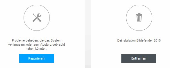 Bitdefender nach Windows 10 Upgrade reparieren