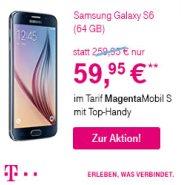 200,- € Rabatt auf das Samsung Galaxy S6 (64 GB)