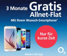 o2: Drei Monate Allnet - Flat gratis