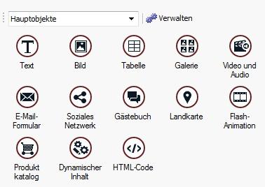 WebSite X5 - Objekte zur Textgestaltung
