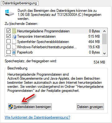 Datentraegerbereinigung -alte Windows Installation löschen