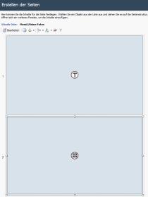 WebSite X5: Layout einer Seite mit Fotogalerie-Komponente