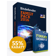 Bitdefender Family Pack 2016 Angebot inklusive Cosmos Finanzschutz