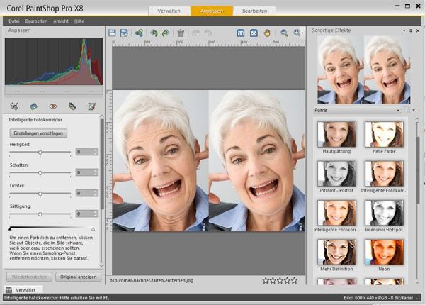 Corel PaintShop Pro X8: Fotos anpassen