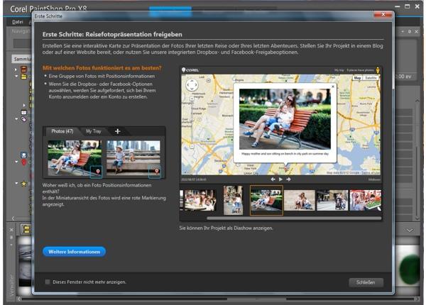 PSP Fotos verwalten: interaktive Karte für Reisepräsentationen