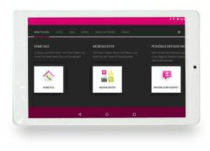 Telekom Puls Tablet mit Telekom Zentrale App
