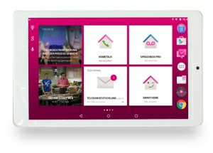 Telekom Puls Tablet: Home Screen mit Zugriff auf Sprachbox