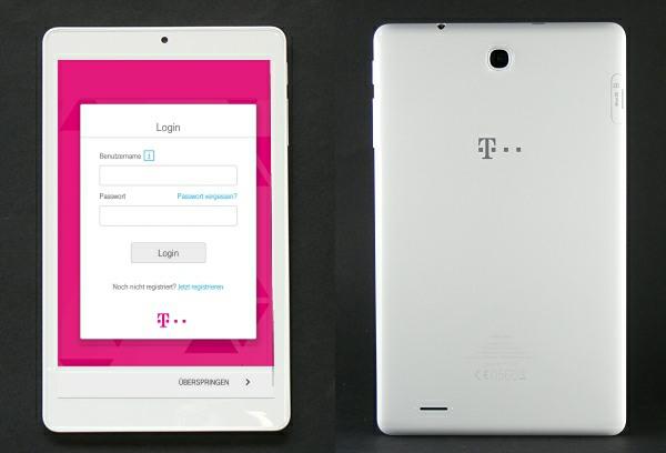 Telekom Puls Tablet: Ansicht vorne und hinten