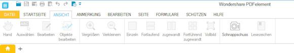 PDF Element: Ansichtsoptionen für PDF Dokumente
