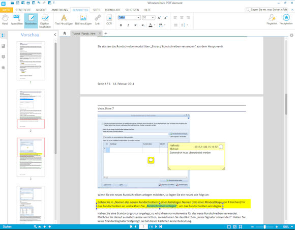 PDFelement : PDF Dokumente und Formulare erstellen und bearbeiten