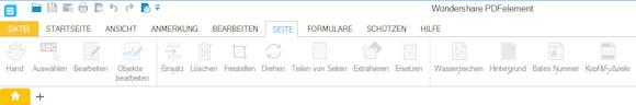 PDF Element Seiten bearbeiten