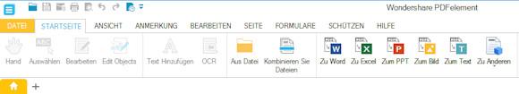 PDFelement Startseite