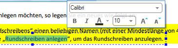 PDF Element Texte formatieren