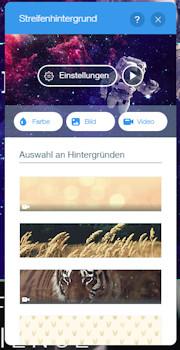 Seitenhintergrund beim Wix Homepage Baukasten einstellen