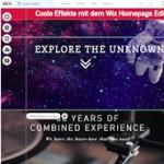 Der neue Wix Homepage Editor mit Streifen Design Konzept und Parallax Scrolling Effekte
