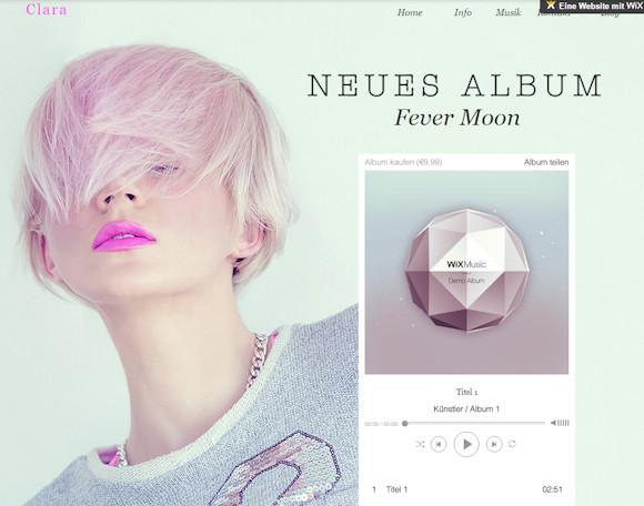 Wix Music: Webseiten erstellen für Musiker und Band mit Verkauf und Player