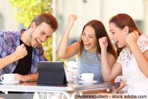 Junge Menschen - Erfolg