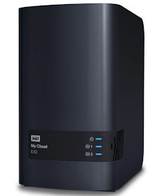 WD My Cloud EX2 Gigabit NAS System 2-Bay 4TB