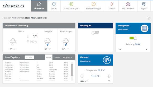 Devolo Smart Home Übersicht