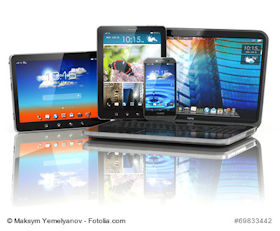 mobile Computer: Tablet. 2in1 Devices. Notebooks und Smartphones
