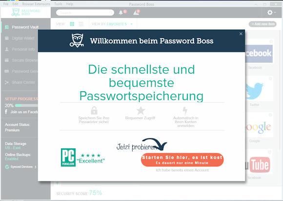 Password Boss Premium: sicheres Passwort Management auf allen Endgeräten