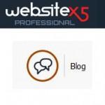 Blog zu einer mit WebSite X5 erstellten Webseite hinzufügen