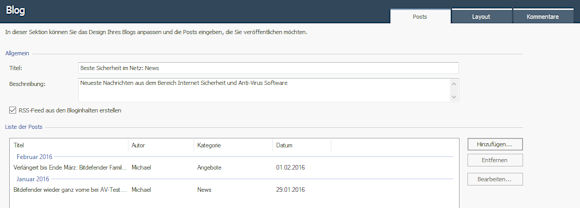 WebSite X5 : Blogeinträge erstellen und verwalten