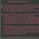Trojaner Locky (Ransomware) verschlüsselt Dateien