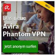 Avira Phantom VPN - anonym und sicher das im Internet surfen