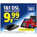 1&1 DSL mit Tablet ab 0 Euro oder 12 Monate günstiger
