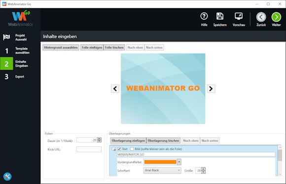 Neu: WebAnimator GO - HTML5 Animation im Handumdrehen