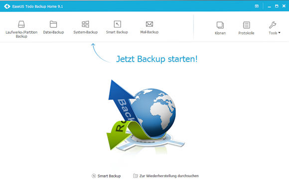 EaseUS Todo Backup 9.1