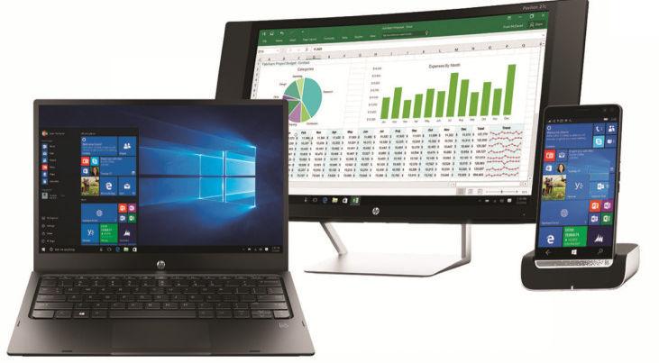 HP Elite x3 mit Docking Station, Tastatur und Display