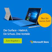Beim Kauf von Surface Pro 4 Type Cover und Wireless Display Adapter V2 gratis!