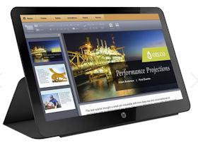 """HP EliteDisplay S140u - mobiler 14"""" Monitor mit Hülle und Standfunktion"""