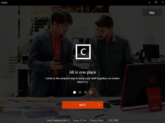 Microsoft Cache - neues Tool zur Organisation von Daten